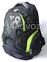 Школьный рюкзак для мальчиков extreme sports DFW салатовый с чёрным