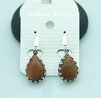 Сережки с натуральными камнями от Бижутерии RRR в Украине. 2194