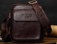 Мужская сумка Polo Feidka brown 99125