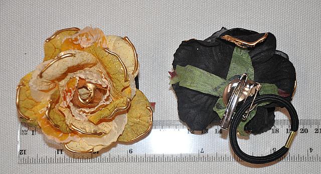 Резинка для волос с цветком (от 1 шт)