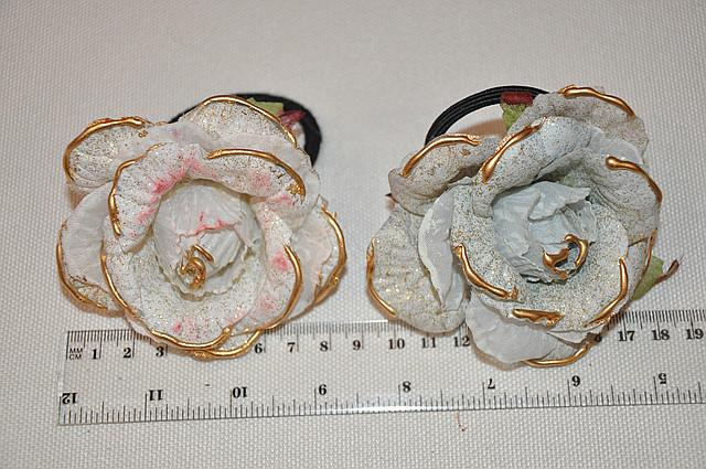 Розы на резинках, зажимах и булавке (от 1 шт)