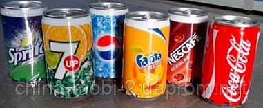Портативная колонка банка Pepsi, CocaCola, Fanta, Sprite с MP3 FM =РАСПРОДАЖА= (царапины)