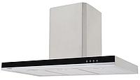 Pyramida T-900 (900 мм.) декоративная кухонная вытяжка нержавеющая сталь / черное стекло, фото 1