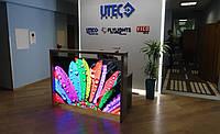 Офисный стол ресепшн (стойка ресепшн). Готовая коммерческая и торговая мебель под заказ в Киеве (R-82)