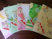 Купить сменную простынь на резинке в детскую кроватку (разные расцветки)