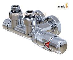 """Угловой кран Mario 1/2""""  с термоголовкой (50 мм) комплект- 2 шт"""