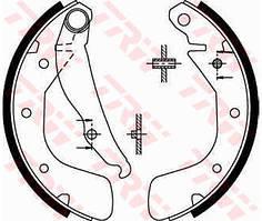 Гальмівні колодки задні барабанні Lanos 1.4-1.5 / Sens 1.3 , Lacetti , Vectra A , Astra F ( TRW GS8543 )