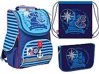 """Ранец ортопедический, пенал и сумка для сменки 1 Вересня """"Black Pearl"""", фото 1"""