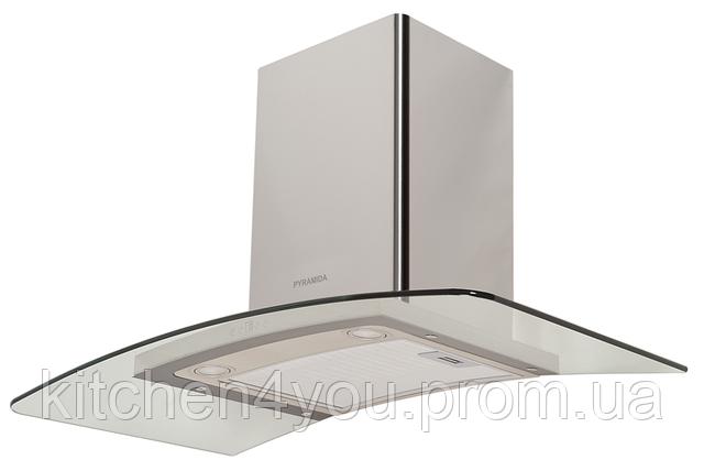 Pyramida HEE 91 B-900 (900 мм.) декоративная кухонная вытяжка нержавеющая сталь / закаленное стекло