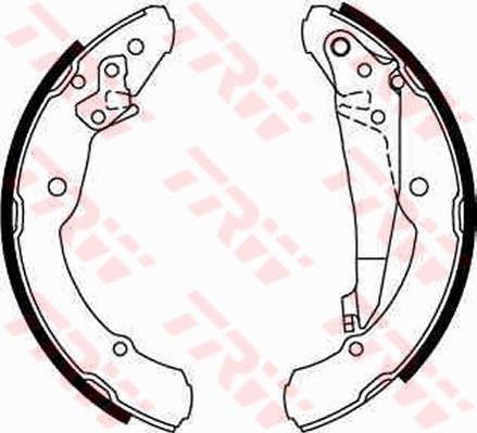Тормозные колодки задние барабанные Skoda Octavia Tour , Roomster , Volkswagen Jetta IV ( TRW GS8639 )