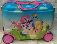 """Детский чемодан-каталка  """"Маленькие Пони"""""""