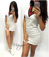 Платье спортивное мини в разных цветах SMp481