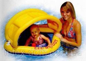 Intex 56572 Детские надувные водные батут со съемным навесом «Buddy» киев