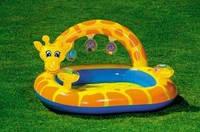Надувной детский бассейн с погремушками Жираф Intex 57404 КИЕВ