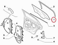 Стекло задней двери правое Linea 2007- (OPAR), Арт. 51867090, 51867090, 51754189, FIAT