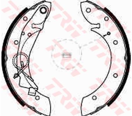 Тормозные колодки задние барабанные Peugeot Partner , Citroen Berlingo ( TRW GS8635 )