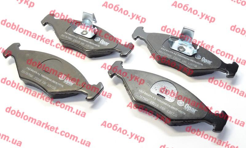 Колодки тормозные передние (ПТК) Siena 2002-2012 (OPAR), Арт. 55170758, 7082515, 7084811, 71770024, 71770961, 71772210, FIAT