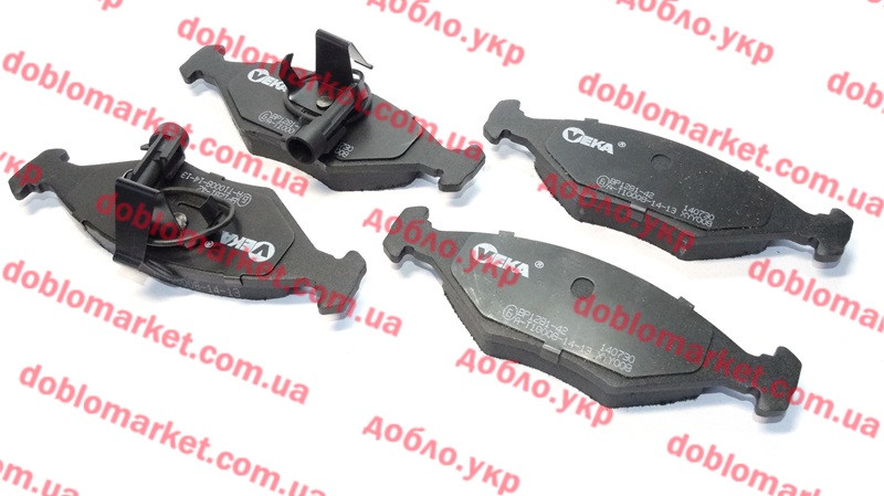 Колодки тормозные передние (ПТК) Siena 2002-2012, Арт. BP128142, 7082515, 7084811, 71770024, 71770961, 71772210, VEKA