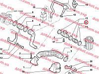 Патрубок (воздушный фильтр - расходомер воздуха) 2.0 - 2.2 JTD Ducato 2001-2006, Арт. 1340194080, 1340194080, FIAT