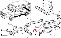 Облицовка порога двери сдвижной левой Cargo Doblo 2000-2016 (без здвижной двери) (OPAR), Арт. 735286710, 735286710, FIAT