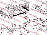 Облицовка порога двери передней левая Doblo 2000-2016, Арт. 735286697, 735286697, FIAT