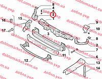 Панель установочная передняя правая Doblo 2009-(телевизор), Арт. 51825940, 51825940, FIAT