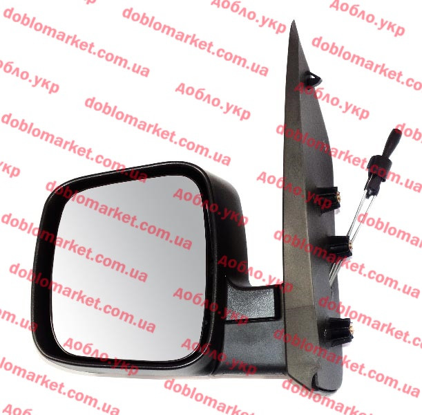 Зеркало левое Fiorino 2007- (регулировка джойстиком), Арт. E1209, 735460570, SPJ