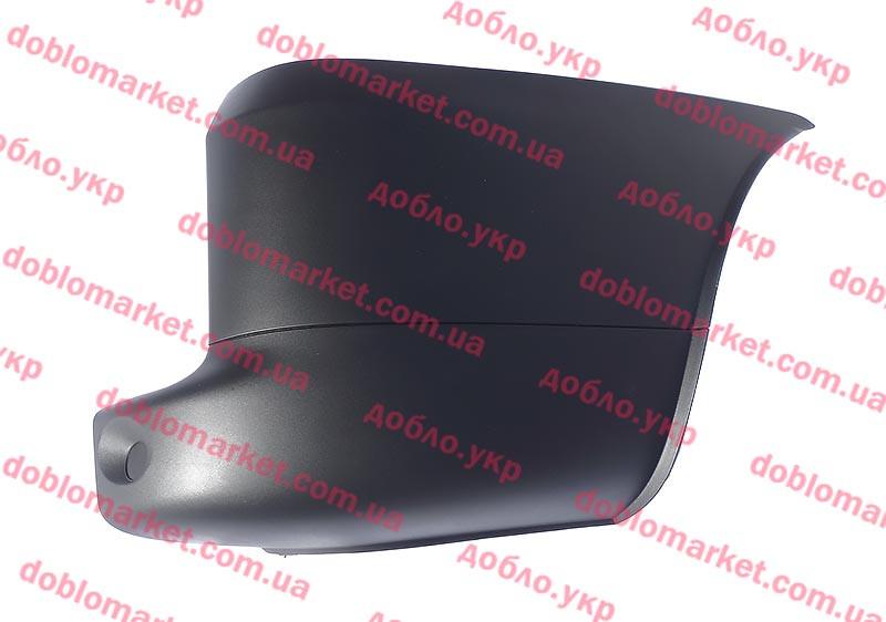 Бампер задний правая часть (клык) Doblo 2005-2016, Арт. 073541574S, 735415740, PLEKSAN