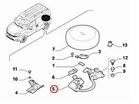 Устройство крепления запасного колеса Doblo 2009-, Арт. 52028736, 51958386, 51902210, 52028736, FIAT