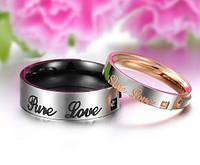 Парные обручальные кольца Стражи Спокойствия розовое золота 750 проба, нержавеющая медицинская сталь