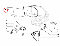 Стекло задней двери левое Albea Siena 2005-2012, Арт. 46419038E, 46419038, OPAR