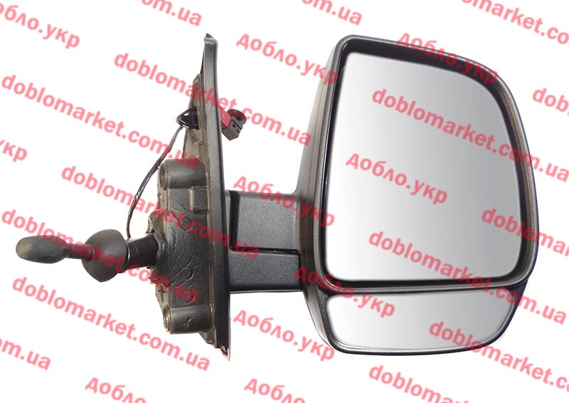 Зеркало правое Doblo 2009- (регулировка джойстиком) без крышки (OPAR), Арт. 735528034, 735497873, 735528034, 735624005, 735645667, FIAT