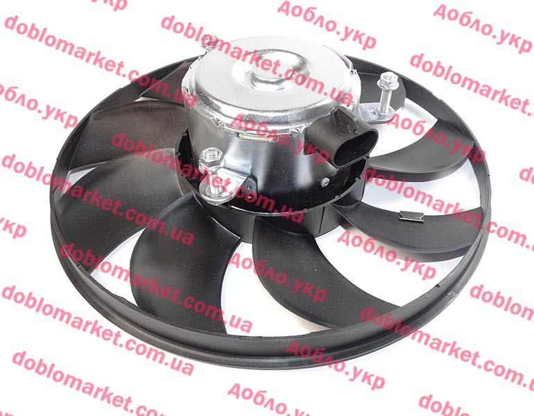 Вентилятор радиатора 1.3MJTD-1.9JTD Doblo 2000-2016, Арт. 51755591, 51738799, 51753828, 51755589, 51755591, VEKA