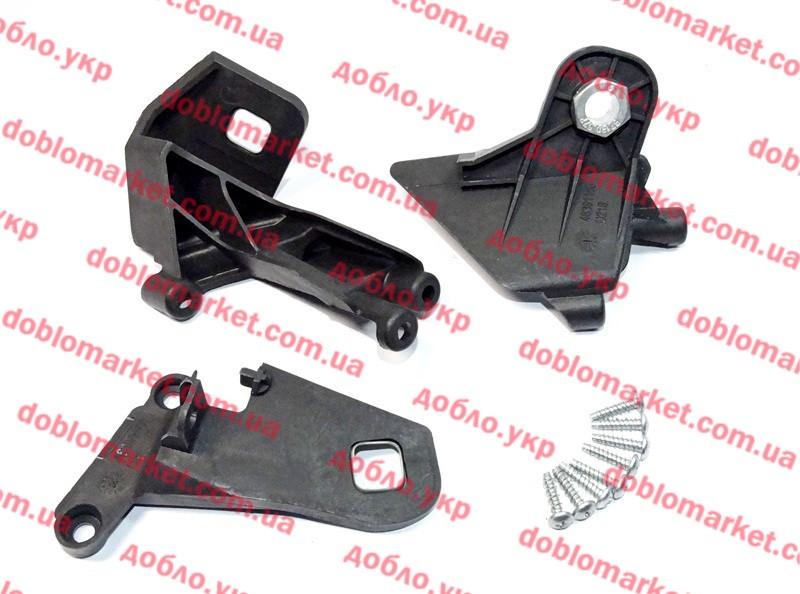 Крепление фары комплект левый Doblo 2009-2015, Арт. 51877428, 51877428, FIAT