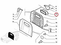 Стекло перегородки Doblo 2000-2016, Арт. 51847492, 51847492, FIAT