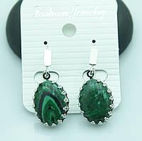 Сережки для девушек из натуральных камней со стразами от Бижутерии RRR в Украине. 2199