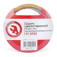 Скотч двухсторонний 50 мм*10 м на полипропиленовой основе INTERTOOL KT-0952, фото 1