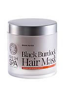 Маска для волос Черная репейная Natura Siberica Fresh Spa Bania Detox 400мл