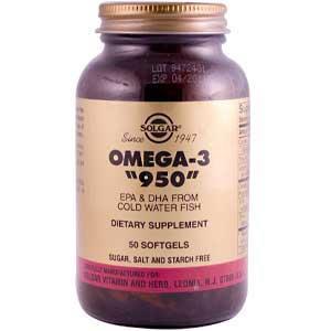 """Солгар """"Тройная Омега-3 950 мг ЭПК и ДГК """" -укреплению оболочек клеток. Увеличивает эластичность сосудов"""