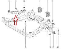 Рычаг передний правый Renault Koleos, Nissan Qashqai, X-Trail. Оригинал - 54500-JG00B