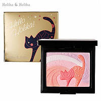 "Стойкие сияющие румяна-хайлайтер ""Кошечка"" - Holika Holika Hello Holika Kitten #02 Twinkling Kitten - 20015062"