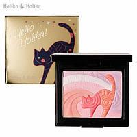"Стойкие сияющие румяна-хайлайтер ""Кошечка"" - Holika Holika Hello Holika Kitten #01 Breeze Kitten - 20015061"