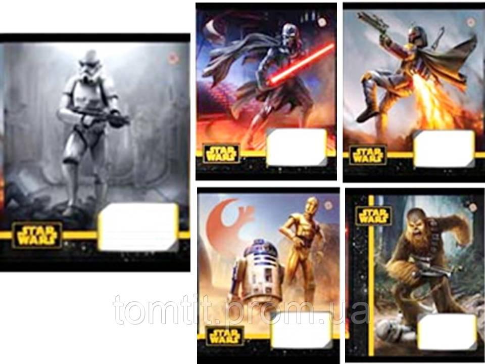 Тетради «STAR WARS - HEROES - Звездные войны» 18 листов, клетка. ТМ Зошит Украины