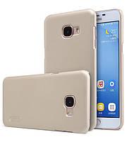 Чехол Nillkin Matte для Samsung Galaxy C5 (+ пленка) Золотой