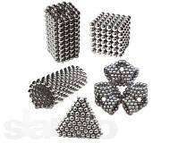 Неокуб Магнитный конструктор Neocube (серебро) 5 мм, интерактивная игрушка, нео куб, магнитные шарики, неодим