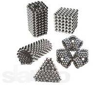 Неокуб Магнітний конструктор Neocube (срібло) 5 мм, інтерактивна іграшка, нео куб, магнітні кульки, неодим