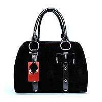 Замшевая маленькая сумочка черная женская №1339z