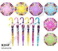 Зонт Barbie со свистком, 6 видов, 49 см (ОПТОМ) K204F