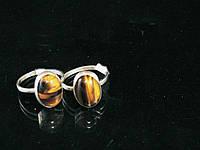 """Кольцо в серебре из тигрового глаза """"айвенго"""""""