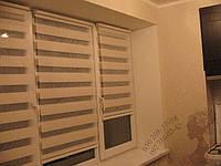 Тканевые ролеты день-ночь Лен., фото 1